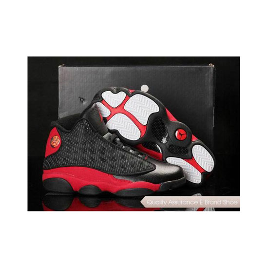 Nike Air Jordan 13 in Box Black Red Sneakers