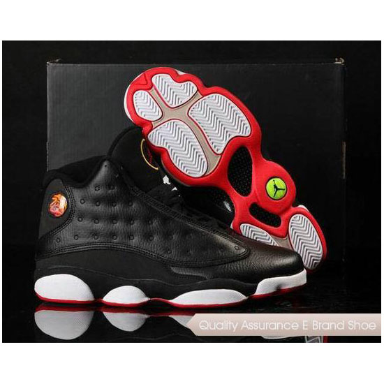 Nike Air Jordan 13 in Box Black White Red Sneakers