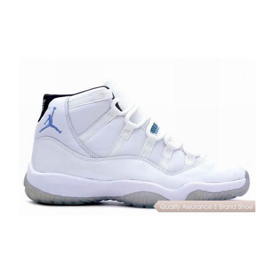 Nike Air Jordan 11 Retro-White/Columbia Blue-Black Sneakers