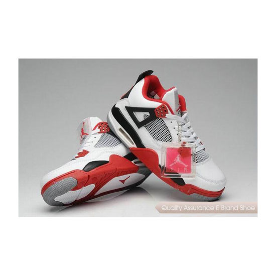 Nike Air Jordan 4 Retro Fire Red Sneakers