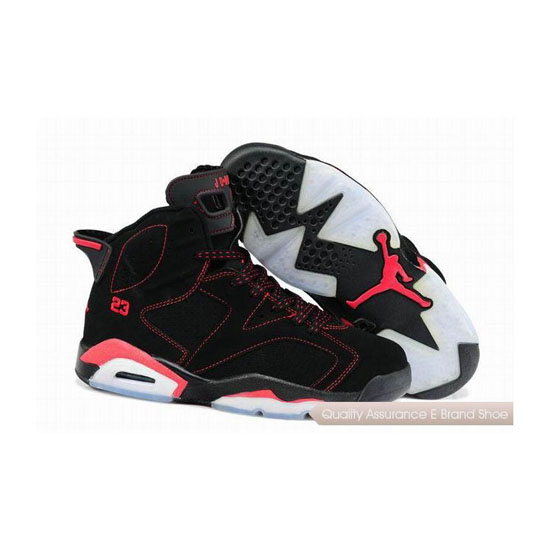 Nike Air Jordan 6 Black Red Sneakers