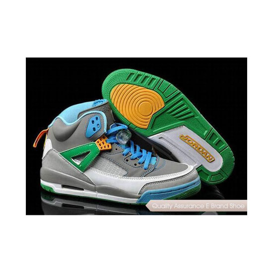 Nike Air Jordan Spizike Stealth/Poison Green-Blue Sneakers
