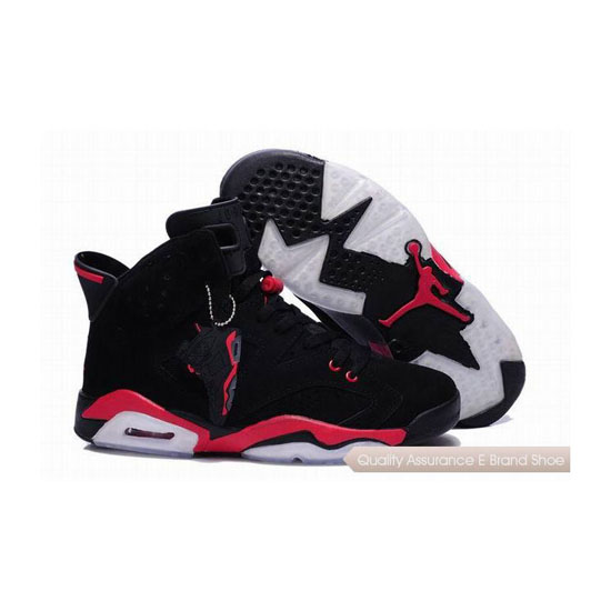 Nike Air Jordan 6 Black Red with Plastic Tag Sneakers