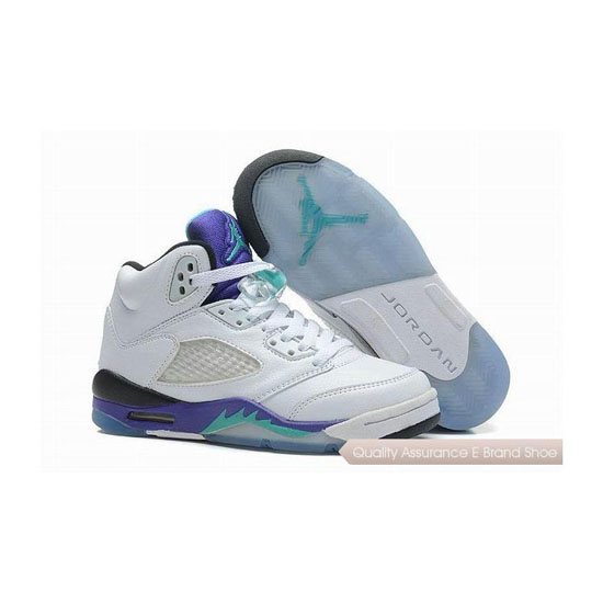 Nike Kids Air Jordan 5 White Grape Sneakers