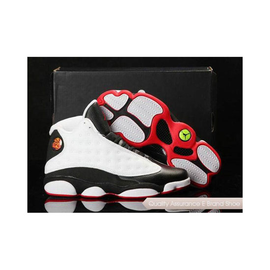 Nike Air Jordan 13 in Box White Black Red Sneakers