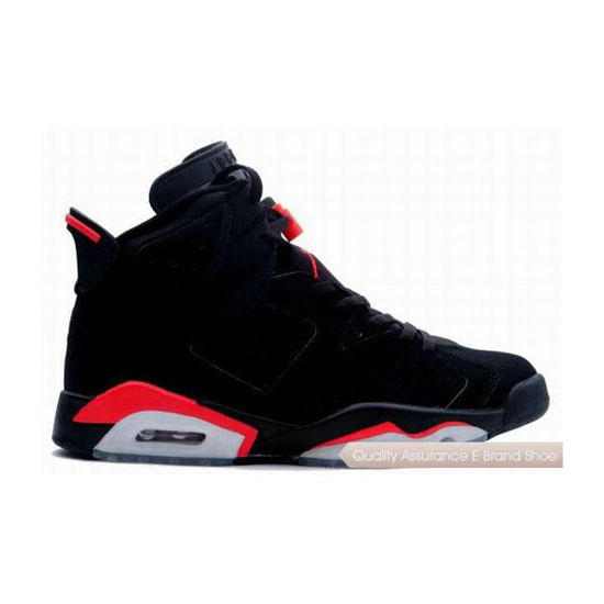 Nike Air Jordan 6 Black/Deep Infrared Sneakers