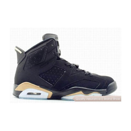 Nike Air Jordan 6 Black/Metallic Gold Sneakers