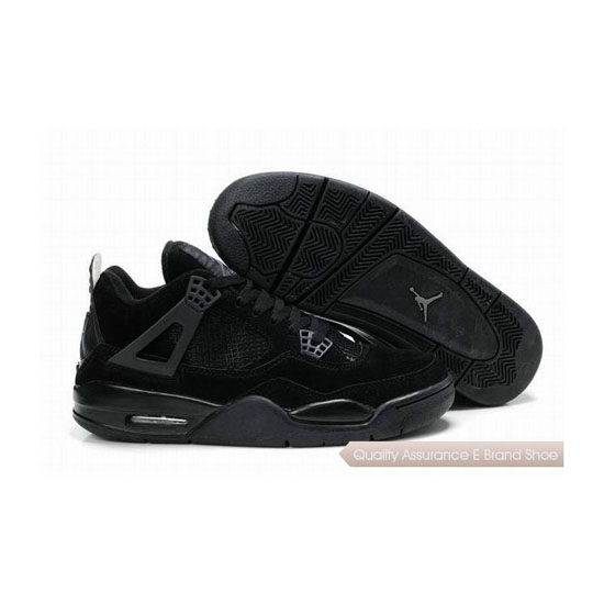 Nike Air Jordan 4 Retro Suede All Black Sneakers