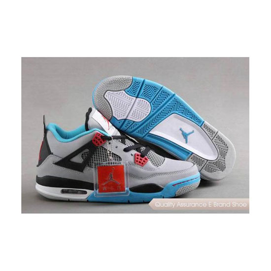 Nike Air Jordan 4 Retro Grey-Blue/Red Sneakers