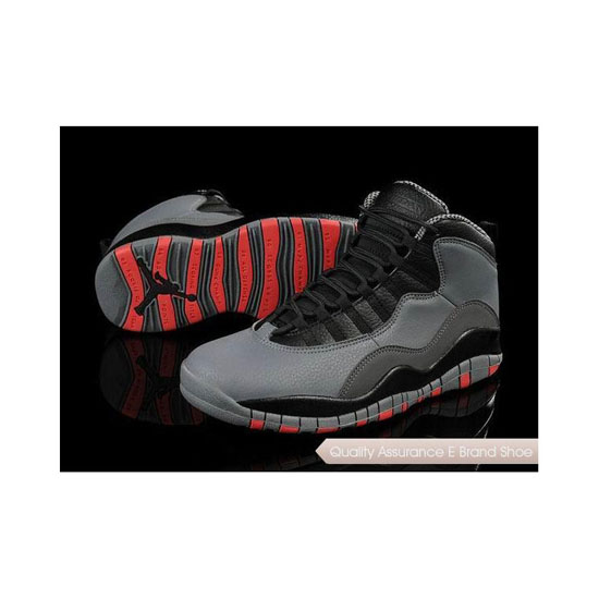 Nike Air Jordan 10 Retro Cool Grey/Infrared-Black Sneakers