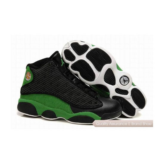Nike Air Jordan 13 Retro Black Green Sneakers