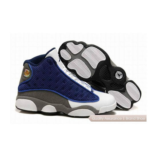Nike Air Jordan 13 Retro Blue Grey White Sneakers