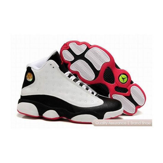 Nike Air Jordan 13 Retro White Black Red Sneakers