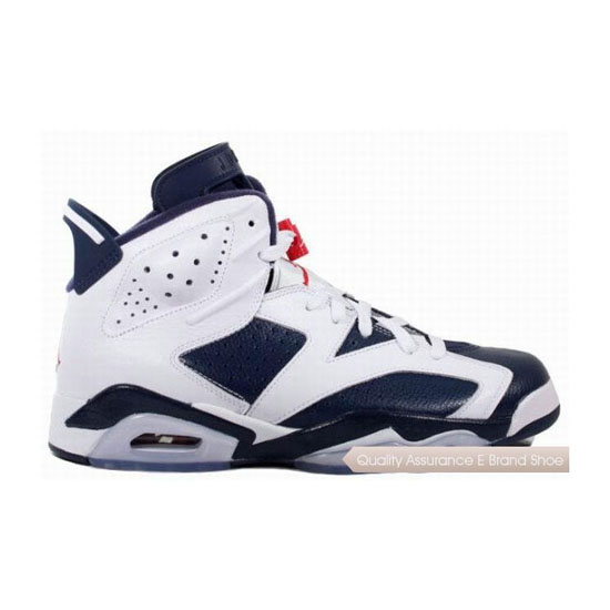 Nike Air Jordan 6 Midnight Navy/Varsity Red-White Sneakers
