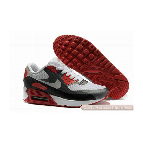 Nike Air Max 90 HYP FRM Mens White Red Sneakers