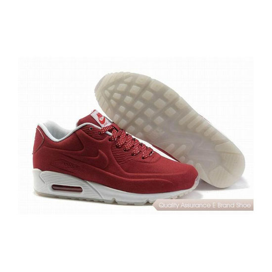 Nike Air Max 90 HYP PRM Unisex Red White Sneakers