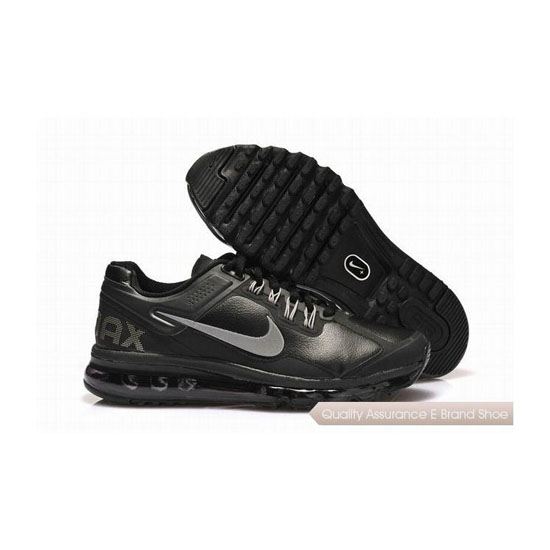Nike Air Max 2013 Leather Mens Black White Sneakers