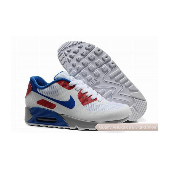 Nike Air Max 90 HYP FRM Unisex White Red Sneakers