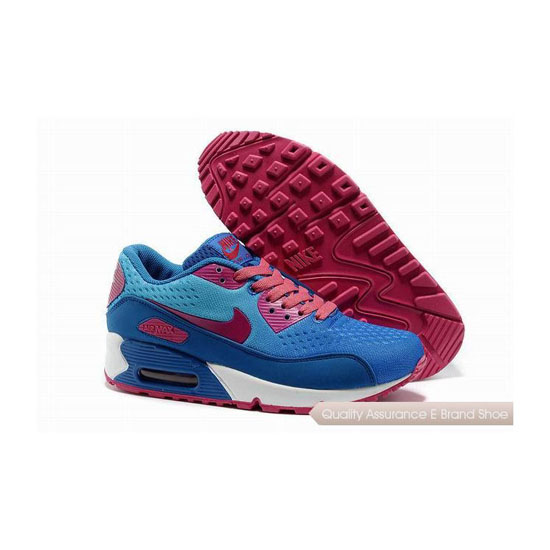 Nike Air Max 90 PRM EM Womens Blue And Pink Sneakers