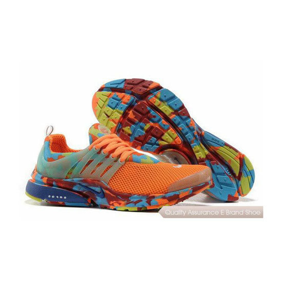 Nike Air Presto Camouflage Mens Salmon Pink Blue