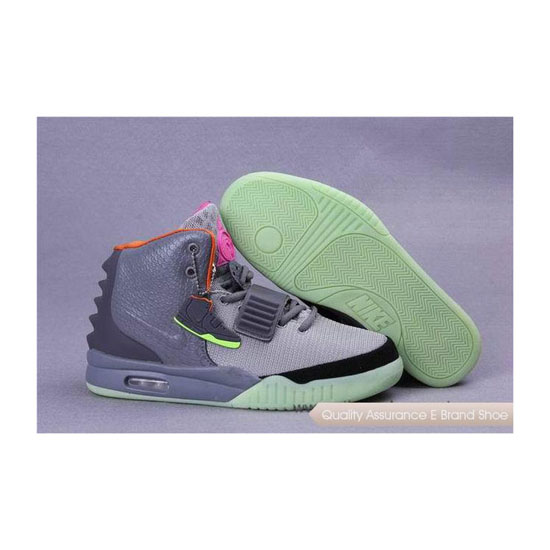 Nike Air Yeezy 2 Bird of Paradise Grey/Silver/Black Basketball Shoes