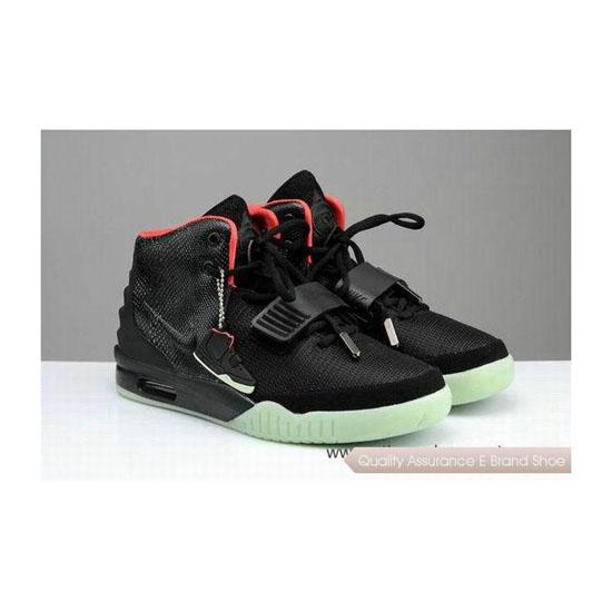 Nike Air Yeezy 2 Fire Red/Black Basketball Shoes