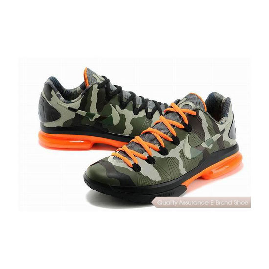 Nike KD V Low Camouflage Basketball Shoes
