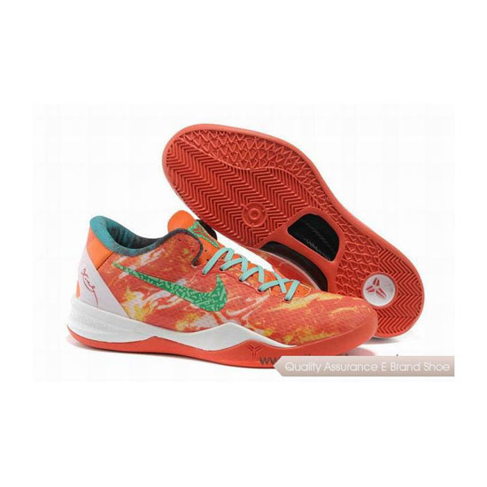 Nike Kobe 8 System All Star Bright Citrus Sport Turquoise Basketball Shoes