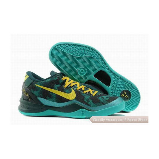 Nike Kobe 8 System Basketball Shoes Green/Yellow