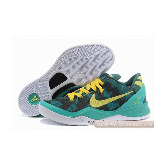 Nike Kobe 8 System Basketball Shoes Green/Yellow/White