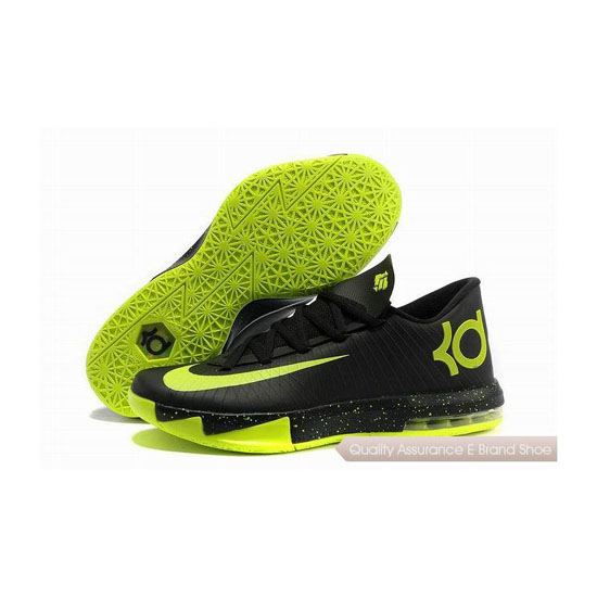Nike Zoom KD VI Black/Green Basketball Shoes