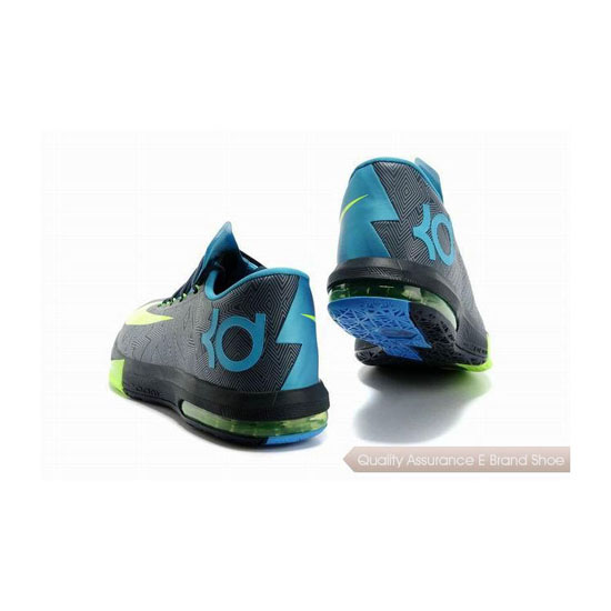 Nike Zoom KD VI Black/Volt-Vivid Blue Basketball Shoes