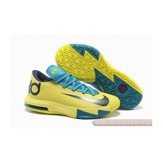 Nike Zoom KD VI Tartrazine Yellow/Green Basketball Shoes