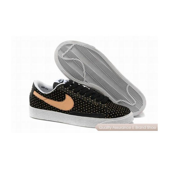 Nike Blazer Low I Womens Black Orange Skateboarding Shoes
