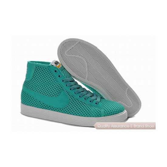 Nike Blazer Mid Mesh Womens All Green Skateboarding Shoes