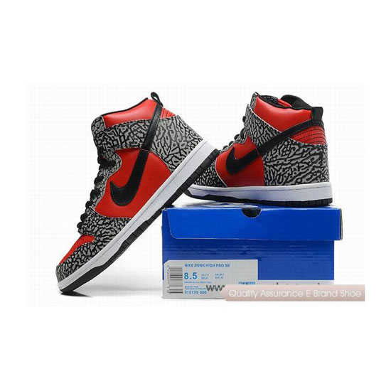 Nike Dunk Pro SB Red Gray Mens Sneakers