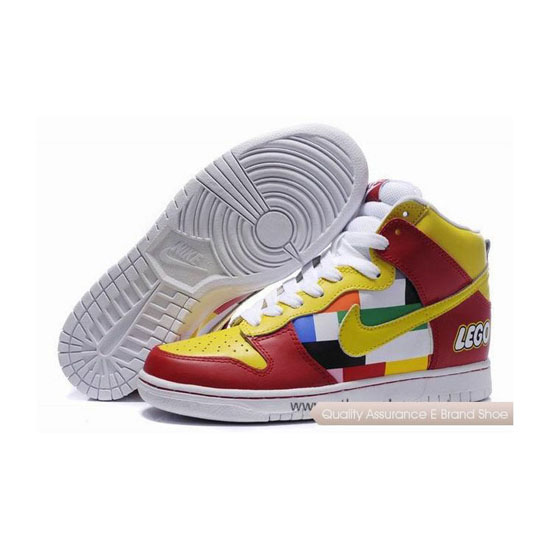 Nike Dunk SB lego yellow red white Mens Sneakers