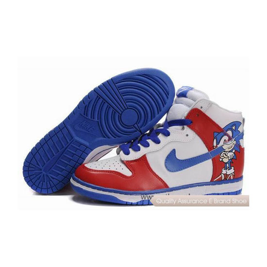 Nike Dunk SB Sonic white red blue Mens Sneakers