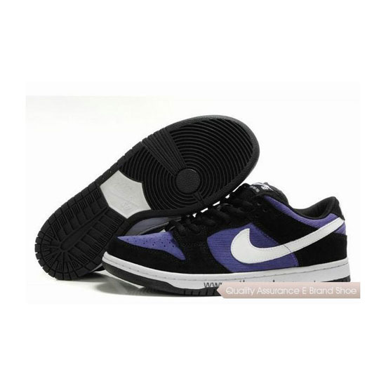 Nike Dunk SB Low black purple white Mens Sneakers