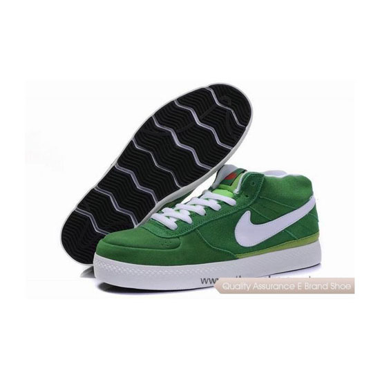 Nike Dunk SB Mid forest green white Mens Sneakers