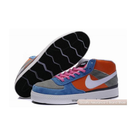 Nike Dunk SB Mid royal blue gray orange red white Mens Sneakers