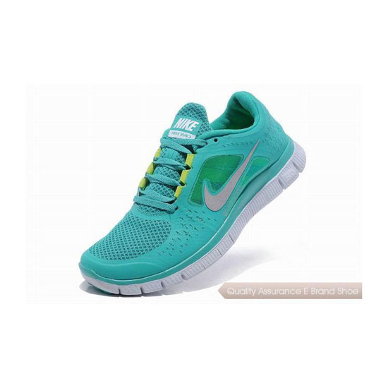 Nike Free Run+ 3 Womens Running Shoe Light Green Silver