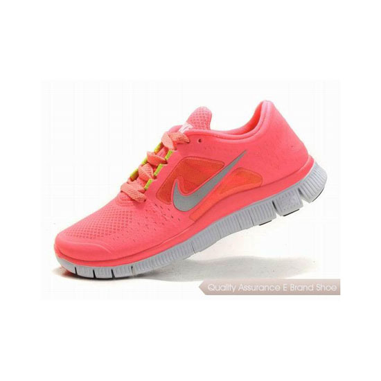 Nike Free Run+ 3 Womens Running Shoe Pink Silver
