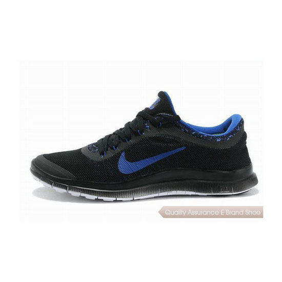 Nike Free 3.0 V6 Mens Running Shoe Black Royal Blue