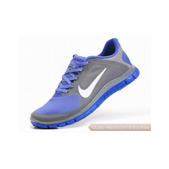 Nike Free 4.0 V3 Mens Running Shoe Grey Blue White