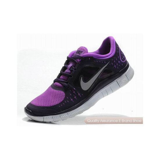 Nike Free Run+ 3 Womens Running Shoe Black Purple