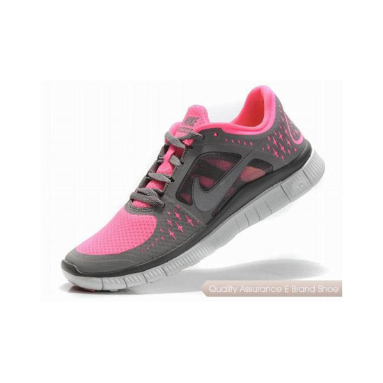 Nike Free Run+ 3 Womens Running Shoe Grey Pink