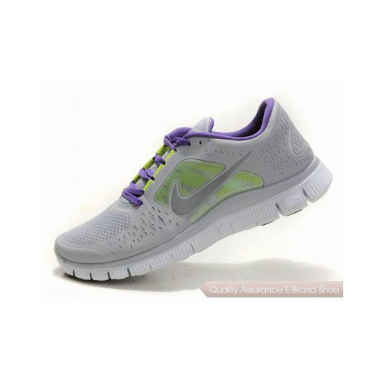 Nike Free Run+ 3 Womens Running Shoe Grey Purple