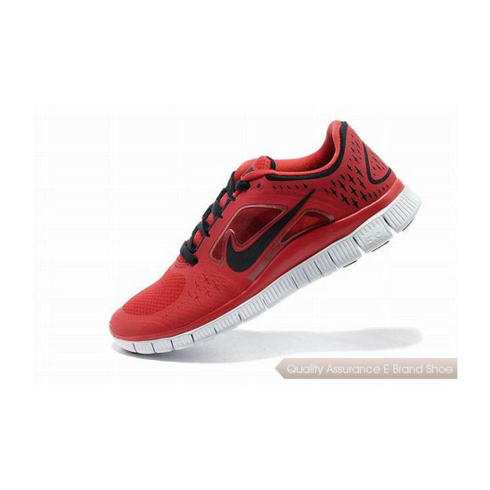 Nike Free Run+ 3 Mens Running Shoe Red Black