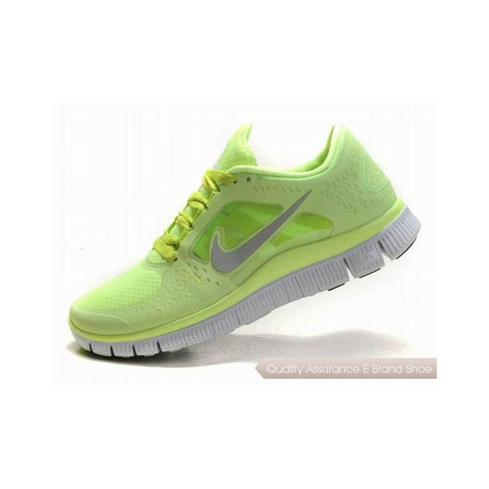 Nike Free Run+ 3 Womens Running Shoe Green Silver